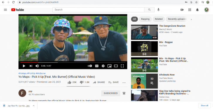 """News: The Official YouTube Channel For Zambian Artist """"Yo Maps"""" Has Been Hacked."""